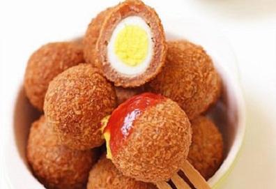 Trứng cút chiên xù