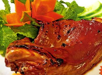 Thịt heo rô ti với quýt