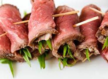 Thịt heo cuộn hành