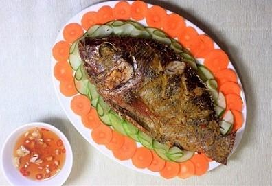 Cá rô phi nướng sả ớt