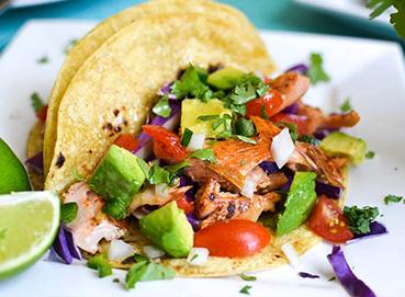 Cá hồi nấu taco