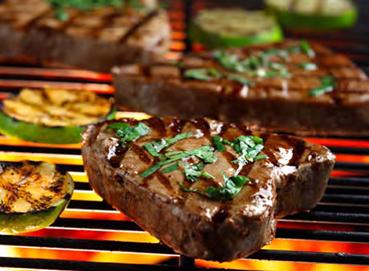 Thịt bò nướng cá ngừ