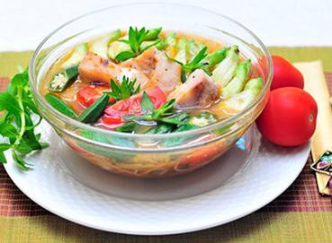 Canh chua bông so đũa cá rô đồng
